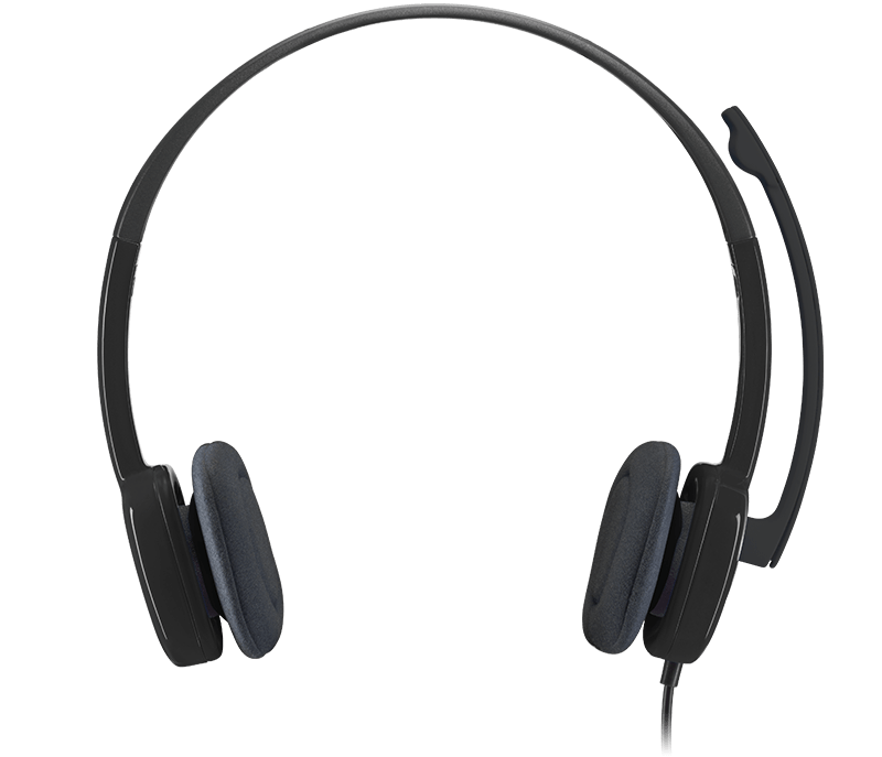 Audifonos Logitech 3.5mm tipo Headset H151 con Micrófono Negros
