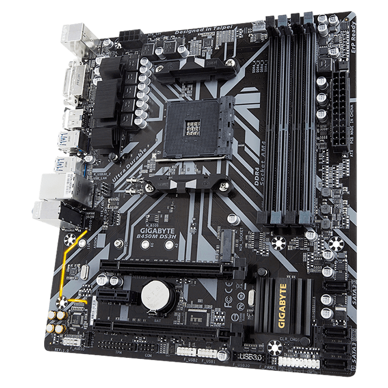 Motherboard Gigabyte B450M DS3H Socket AM4 4xDDR4 Micro-ATX