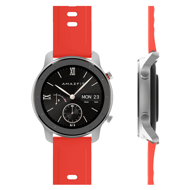 SmartWatch Xiaomi Amazfit GTR A1910 42mm Rojo Coral Frontal lateral