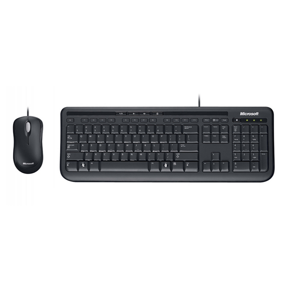 Teclado y Mouse Microsoft USB Wired Desktop 600